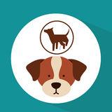 Veterinary dog care dog silhouette icon Stock Photo