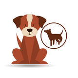 Veterinary dog care dog silhouette icon Royalty Free Stock Images