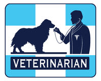 Veterinary With Dog Graphic Royalty Free Stock Photos