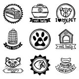 Veterinary Emblems Set Stock Images