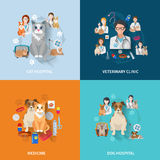 Veterinary Flat Set vector illustration