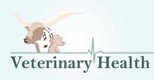 Veterinary health sign Stock Photo
