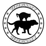 Veterinary icon round frame Royalty Free Stock Photo