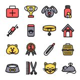 Veterinary Icon Set Stock Images