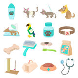 Veterinary icons set Stock Photography