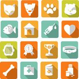 Veterinary icons set Royalty Free Stock Photography