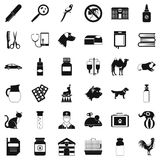 Veterinary icons set, simple style Stock Image