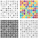 100 veterinary icons set vector variant. 100 veterinary icons set vector in 4 variant for any web design isolated on white Royalty Free Stock Image