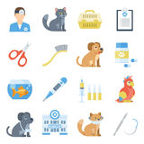 Veterinary medicine cartoon set Royalty Free Stock Photos