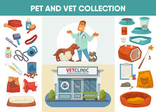 Veterinary medicine hospital, clinic or pet shop for animals. Royalty Free Stock Photography