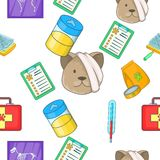 Veterinary pattern, cartoon style Royalty Free Stock Images