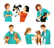 Veterinary People Set Royalty Free Stock Image