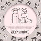 Veterinary pet health care animal medicine icons set isolated Stock Photography