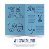 Veterinary pet health care animal medicine icons set  Royalty Free Stock Images