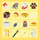Veterinary pet icons. Colorful set of veterinary pet icons. Vector illustration, EPS 10 Stock Photography
