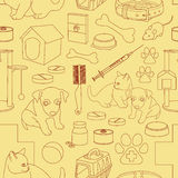 Veterinary pet icons pattern. Vector illustration, EPS 10 Stock Images