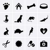 Veterinary Pet Icons. Vector illustration Stock Photo