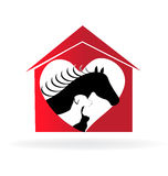 Veterinary pets logo Royalty Free Stock Image