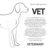 Veterinary poster design with line dog Royalty Free Stock Photo
