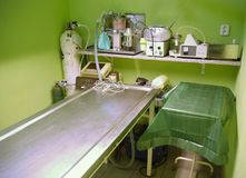 Veterinary surgery. In green colours Royalty Free Stock Photos