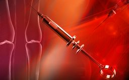 Veterinary surgical syringe Royalty Free Stock Images