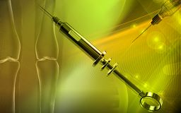 Veterinary surgical syringe Royalty Free Stock Image