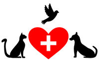 Veterinary symbol Royalty Free Stock Photos