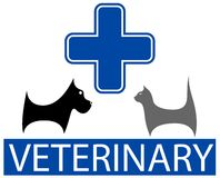 Veterinary symbol with isolated pet Royalty Free Stock Images