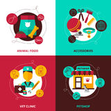 Veterinary 2x2 Design Concept Stock Photography