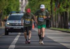 VeteRun, de Looppas van Oorlogsveteranen, Boekarest, Roemeni? stock foto