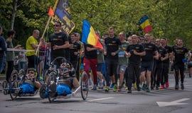 VeteRun ,The War Veterans Run, Bucharest, Romania. The War Veterans Run, Bucharest, Romania royalty free stock photo