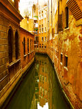Vetetian quiet street. Venice, 2006, Italy Royalty Free Stock Images