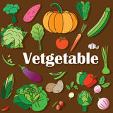 Vetgetable color icons Stock Images