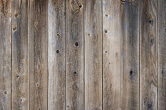 Vetical worn fence boards with gray finish with knots Royalty Free Stock Photography