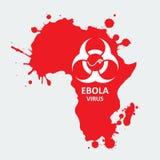 Vetor África e vírus de ebola Foto de Stock