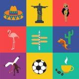 Vetor Ámérica do Sul Imagem de Stock Royalty Free