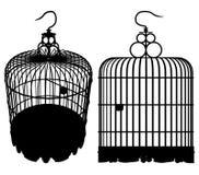 Vetor 01 da gaiola de pássaro ilustração do vetor