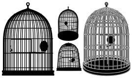 Vetor 02 da gaiola de pássaro Fotografia de Stock Royalty Free
