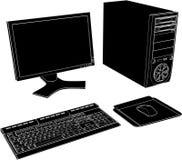 Vetor 02 do computador de secretária Imagens de Stock Royalty Free