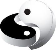 vetor 3d que ying yang Imagem de Stock