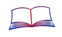 Vetor aberto do ícone do logotipo da ilustração de livro ilustração stock