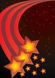 Vetor abstrato do fundo das estrelas Fotos de Stock Royalty Free