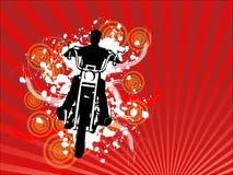 Vetor abstrato do fundo do cavaleiro da motocicleta Imagem de Stock