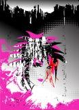 Vetor abstrato, fundo de Emo ilustração do vetor