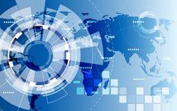 Vetor abstrato global da solução da tecnologia do fundo, ilustração Imagem de Stock Royalty Free