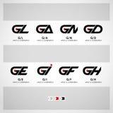 Vetor abstrato Logo Design Template Fotos de Stock Royalty Free