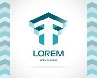Vetor abstrato Logo Design Template Imagens de Stock Royalty Free