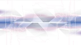 Vetor abstrato moderno futurista do molde do fundo da conexão do circuito de sistema da tecnologia fotografia de stock royalty free