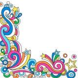 Vetor abstrato psicadélico do Doodle do caderno ilustração royalty free