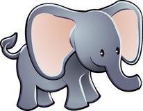 Vetor adorável dos desenhos animados do elefante Fotos de Stock